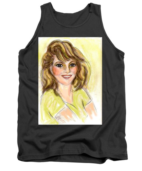 Tank Top featuring the mixed media Honey by Desline Vitto