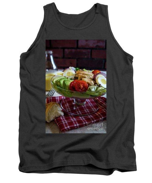 Tank Top featuring the photograph Honey Mustard Chicken Cobb Salad 2 by Deborah Klubertanz