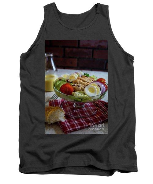 Tank Top featuring the photograph Honey Mustard Chicken Cobb Salad 1 by Deborah Klubertanz