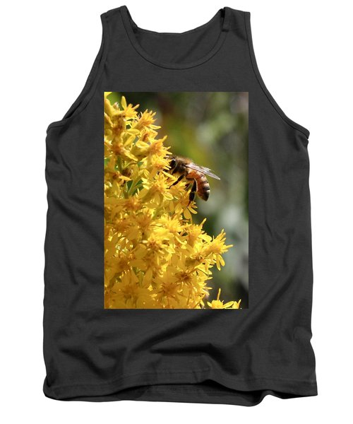 Honeybee On Showy Goldenrod Tank Top