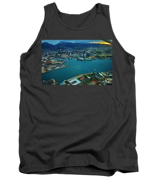 Honolulu Waterfront At Dawn Tank Top