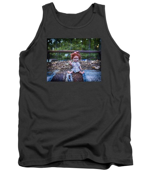 Tank Top featuring the photograph Hood Ornament? by Alan Raasch