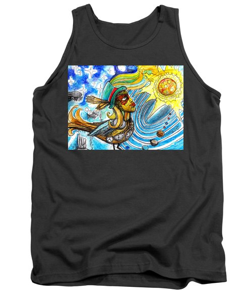 Tank Top featuring the painting Hooked By The Worm by Genevieve Esson