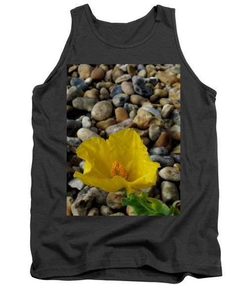 Horned Poppy And Pebbles Tank Top by John Topman