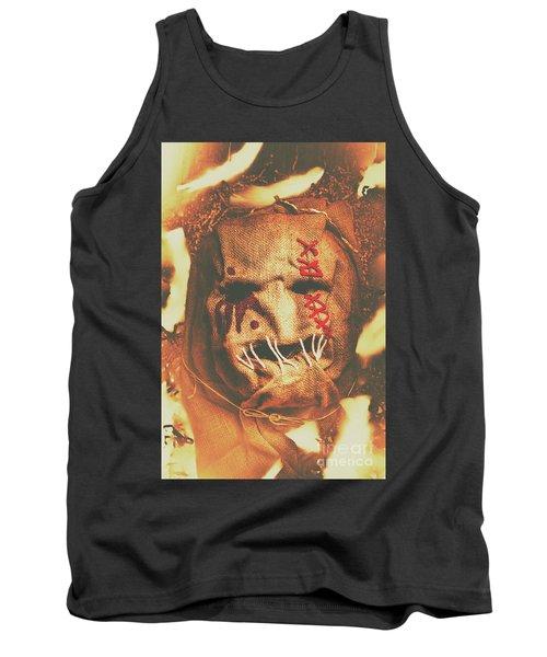 Horror Scarecrow Portrait Tank Top