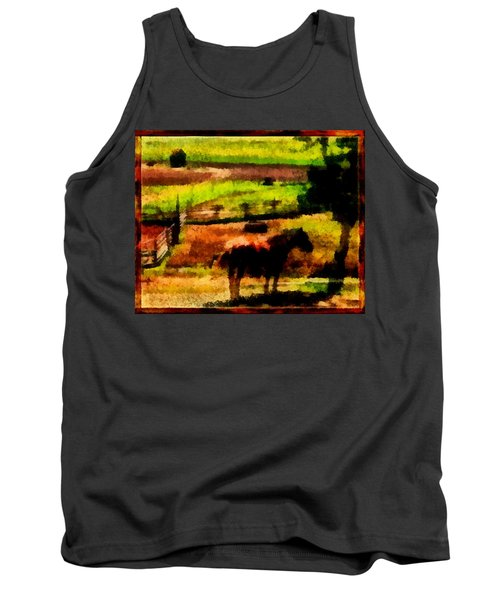 Horse At Pasture Tank Top