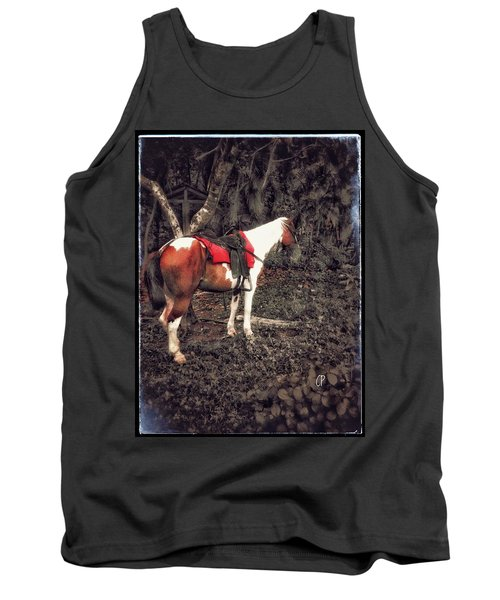 Horse In Red Tank Top