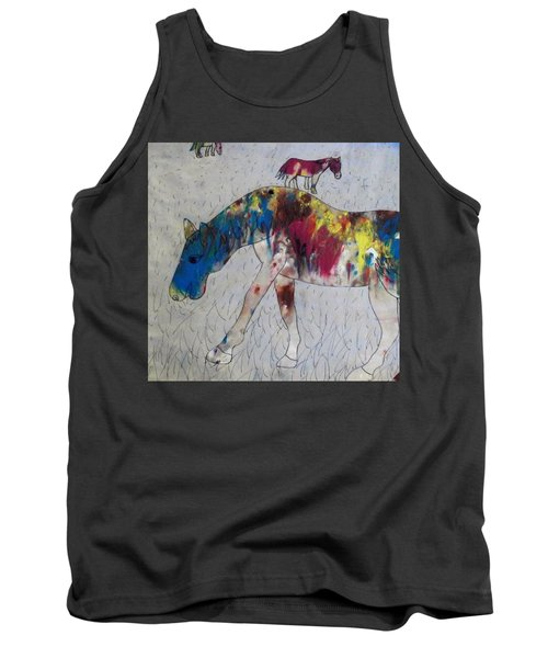 Tank Top featuring the painting Horse Of A Different Color by Thomasina Durkay
