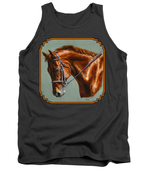 Horse Painting - Focus Tank Top by Crista Forest