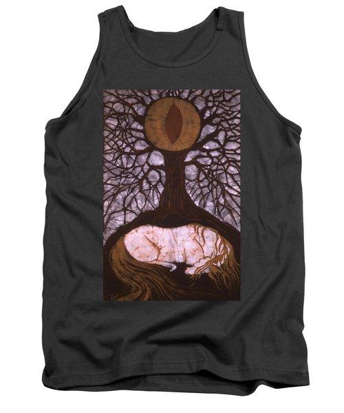 Horse Sleeps Below Tree Of Rebirth Tank Top
