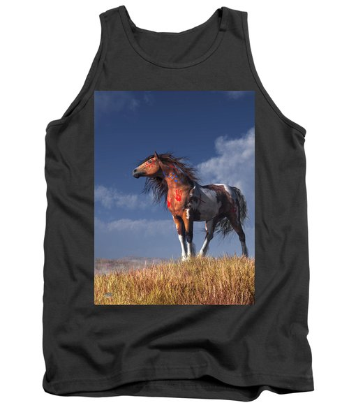Horse With War Paint Tank Top