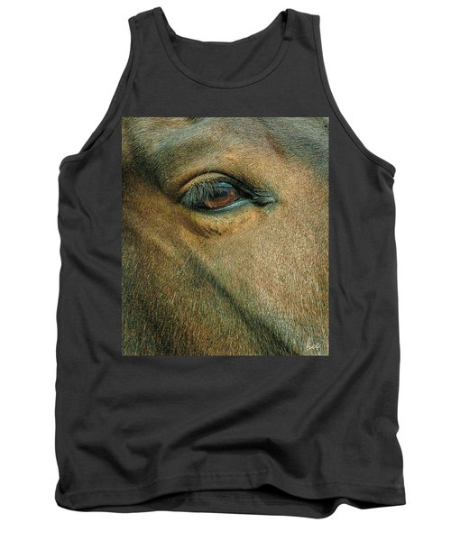 Tank Top featuring the photograph Horses Eye by Bruce Carpenter