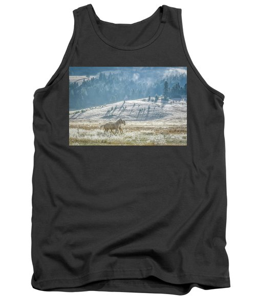 Horses In The Frost Tank Top by Keith Boone