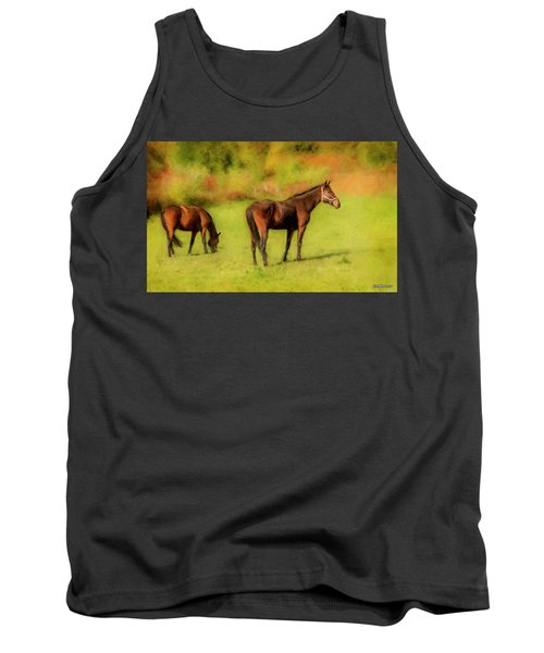 Horses In The Pasture Tank Top