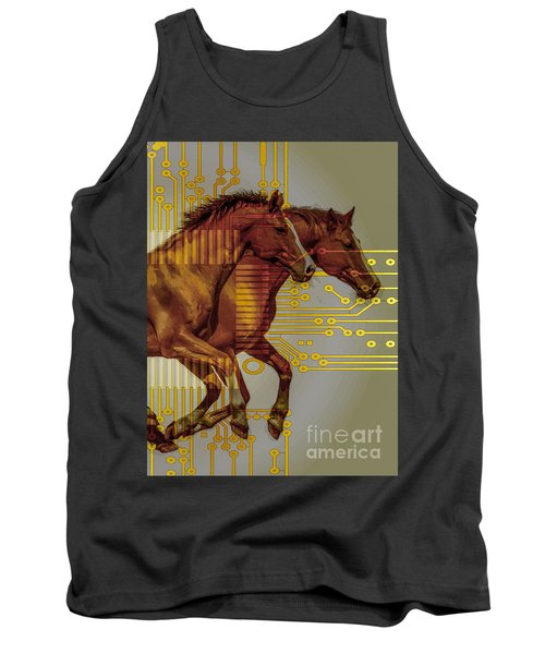 The Sound Of The Horses. Tank Top by Moustafa Al Hatter