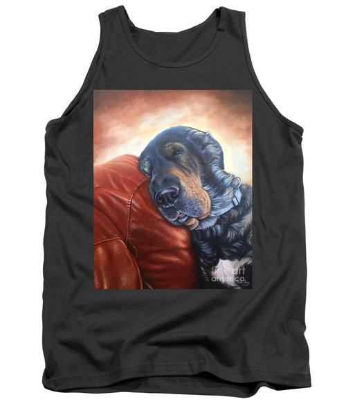 Tank Top featuring the painting Hoss by Mike Ivey