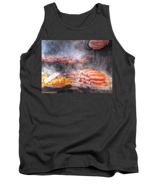 Hot Sausage Hot Dog Tank Top by Yury Bashkin