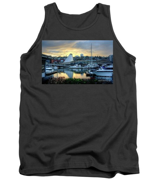 Hot Shop Cone Cloudy Twilight Tank Top by Chris Anderson