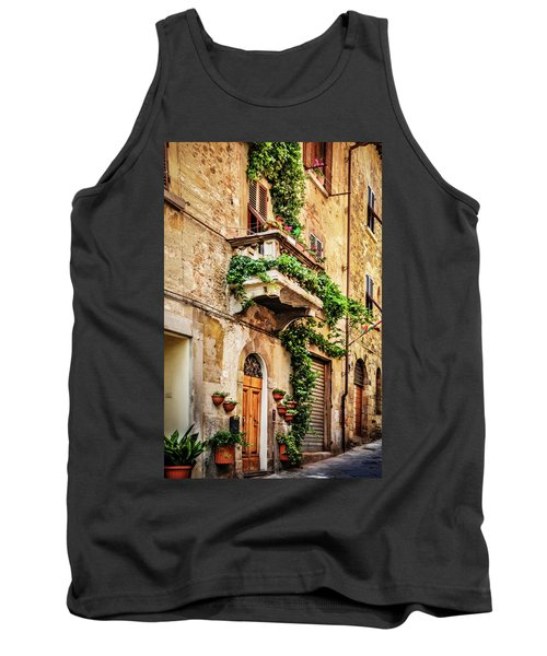 Tank Top featuring the photograph House In Arezzoo, Italy by Marion McCristall