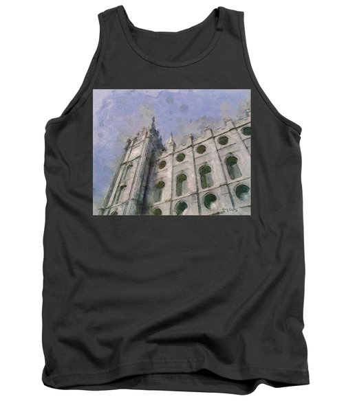 Tank Top featuring the painting House Of Faith by Greg Collins