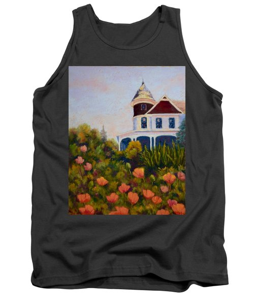 Tank Top featuring the painting House On The Hill by Nancy Jolley