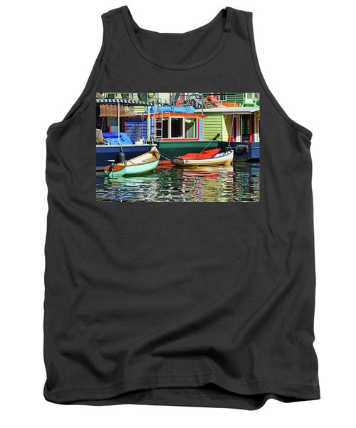Houseboats 4 - Lake Union - Seattle Tank Top