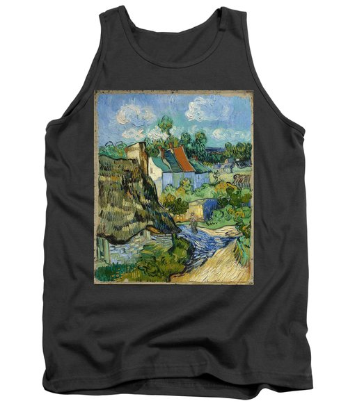 Tank Top featuring the painting Houses In Auvers by Van Gogh