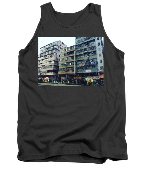 Houses Of Kowloon Tank Top by Florian Wentsch