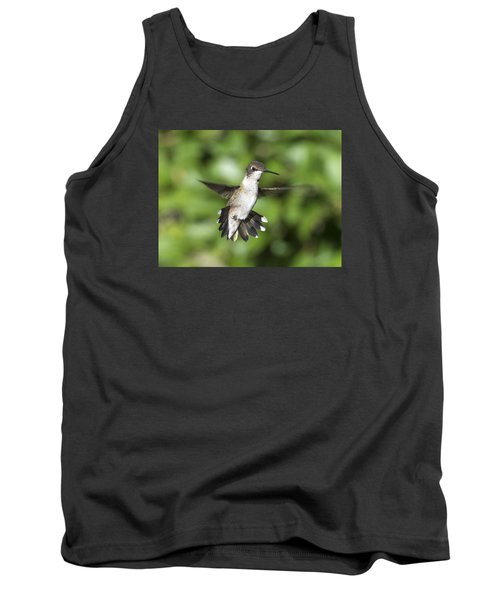 Tank Top featuring the photograph Hovering Hummer by Stephen Flint