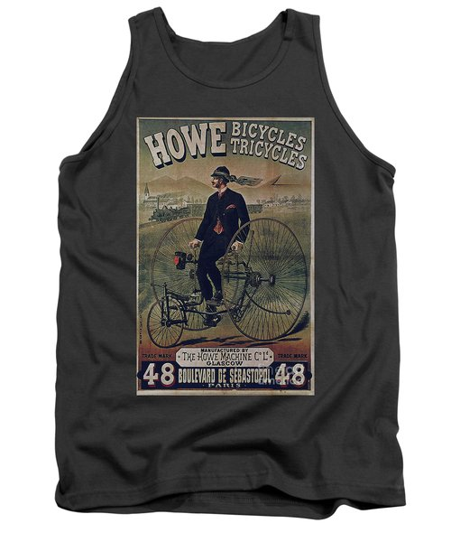 Howe Bicycles Tricycles Vintage Cycle Poster Tank Top