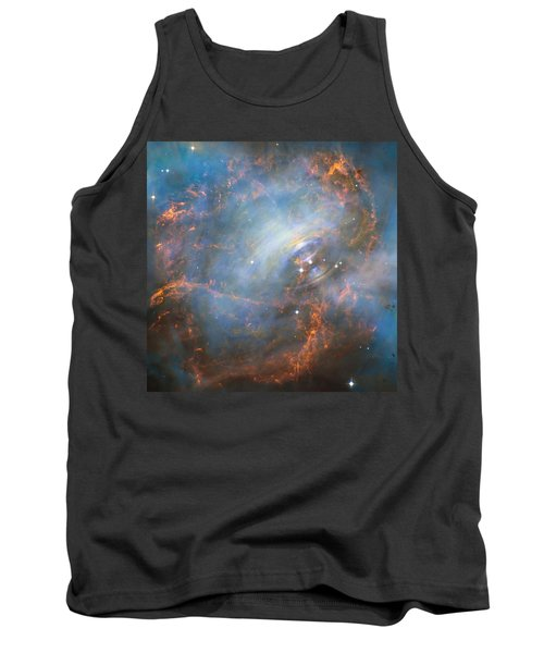 Tank Top featuring the photograph Hubble Captures The Beating Heart Of The Crab Nebula by Nasa