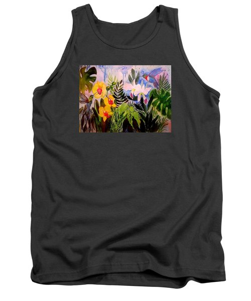 Hummers And Orchids Tank Top