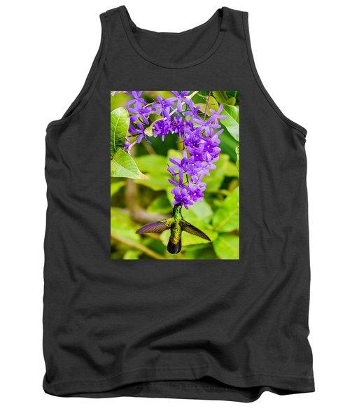 Humming Bird Flowers Tank Top