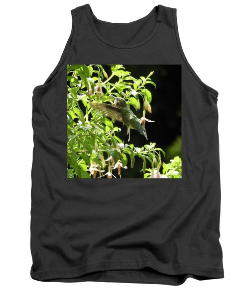 Hummingbird Feeding Tank Top by Brian Chase