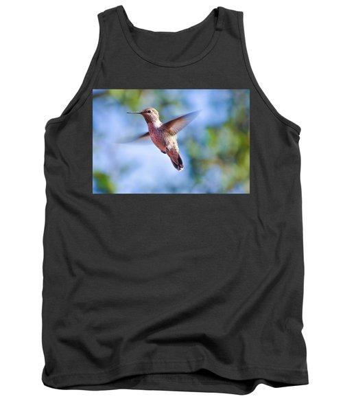 Hummingbird In Flight Tank Top