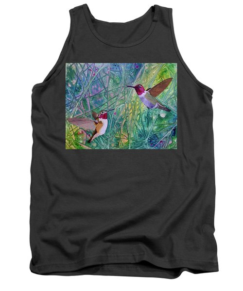 Hummingbird Pair Tank Top by Nancy Jolley
