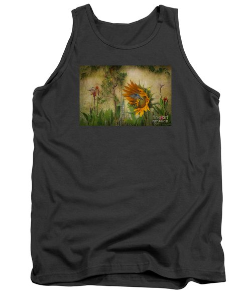 Tank Top featuring the photograph Hummingbirds In My Garden by John  Kolenberg