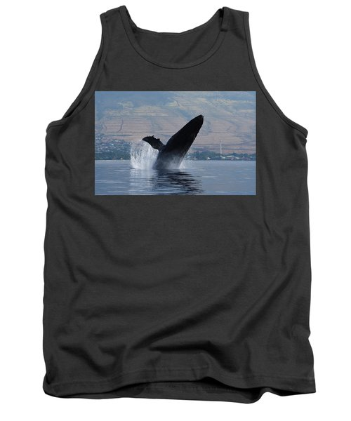 Tank Top featuring the photograph Humpback Whale Breach by Jennifer Ancker