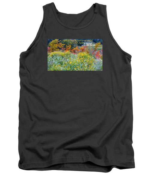 Tank Top featuring the photograph Hundred Hearts by David Norman