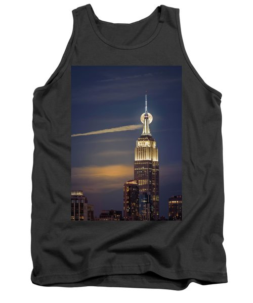 Tank Top featuring the photograph Hunter's Moon by Eduard Moldoveanu