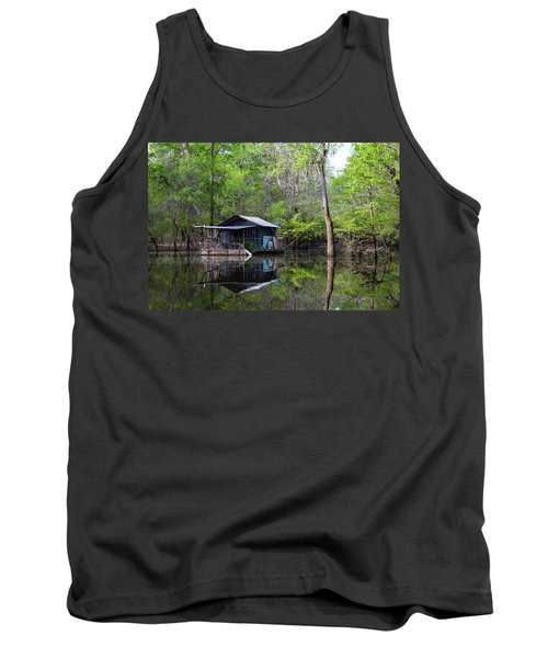 Hunting And Fishing Cabin Tank Top