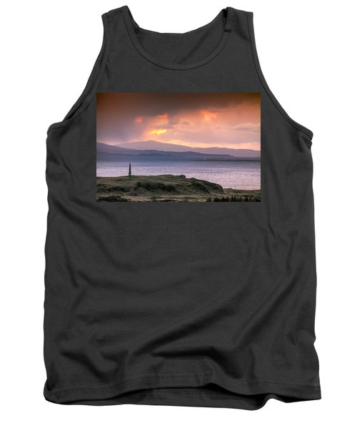 Hutcheson's Monument On The Isle Of Kerrera At Sunset Tank Top