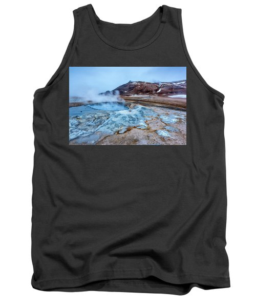 Hverir Steam Vents In Iceland Tank Top by Joe Belanger