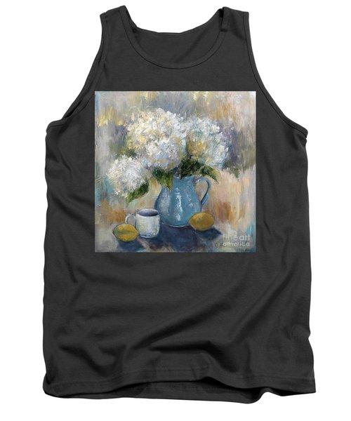 Hydrangea Morning Tank Top by Jennifer Beaudet