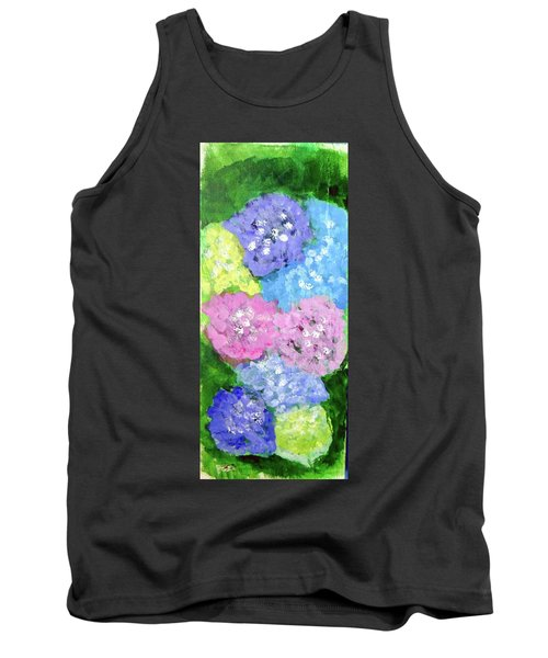 Tank Top featuring the painting Hydrangeas #2 by Loretta Nash
