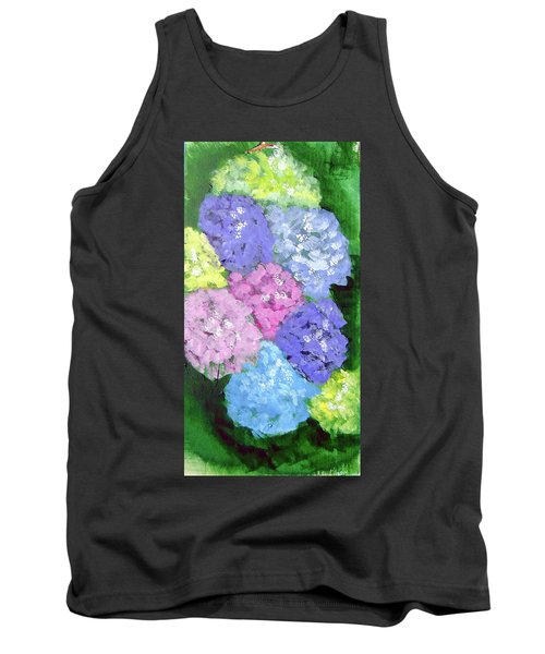 Tank Top featuring the painting Hydrangeas by Loretta Nash