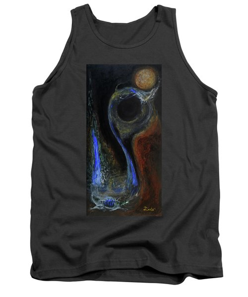 Tank Top featuring the painting Hydrogen Fiend by Christophe Ennis