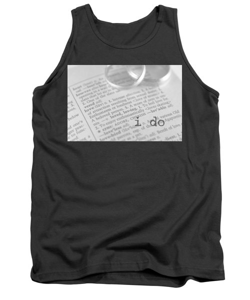 Tank Top featuring the photograph I Do by Bobby Villapando