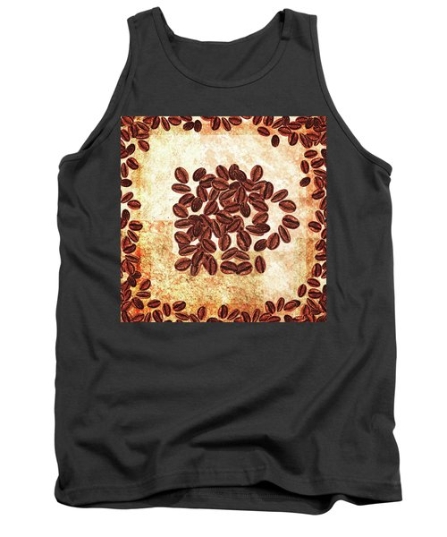 I Dream Coffee Still Life With Beans Tank Top