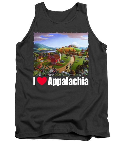 I Love Appalachia T Shirt - Appalachian Blackberry Patch Rural Landscape 2 Tank Top